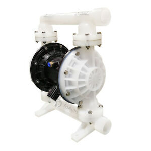 26 4gpm Air operated Double Diaphragm Pump 1 Inlet outlet Polypropylene Buna n