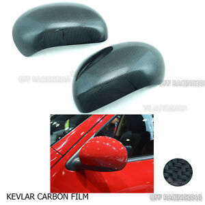 Black Carbon Film Side Mirror Cover For Nissan Juke 5 Door Hatchback 2011 2015