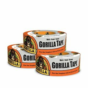 Gorilla Tape White Duct Tape 1 88 X 10 Yd White pack Of 3