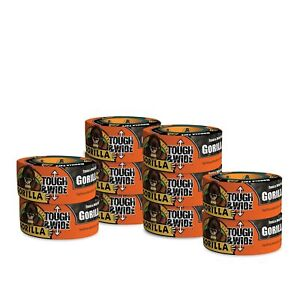 Gorilla Tape Black Tough Wide Duct Tape 2 88 X 30 Yd Black pack Of 10