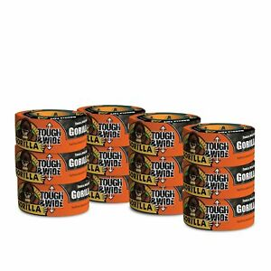 Gorilla Tape Black Tough Wide Duct Tape 2 88 X 30 Yd Black pack Of 12