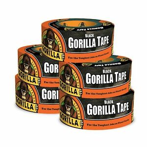 Gorilla 6001203 5 Duct Tape 1 88 X 12 Yd Black pack Of 5 5 Pack 5 P