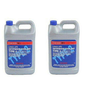 Two Gallons Genuine Engine Coolant Antifreeze Type 2 Blue For Honda