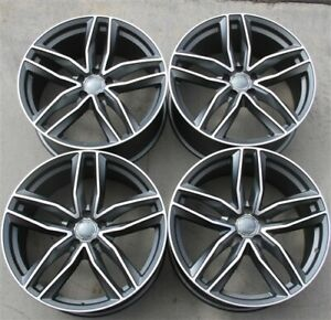 Set 4 18 18x8 0 5x112 Wheels Fit Audi A3 A4 Jetta Passat Golf Cc Gti Vw