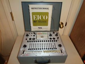 Vintage Eico 667 Dynamic Conductance Tube And Transistor Tester