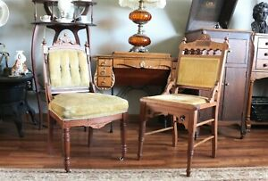 Pair Of Antique Eastlake Chairs Late 1890 S