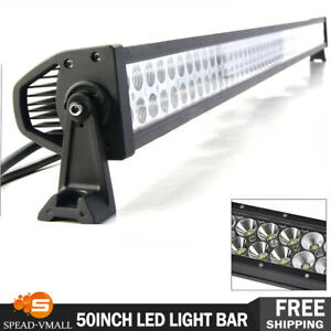 Curved 50 inch 700w Led Light Bar S F Combo Roof Offroad Truck Ford Slim 48 52