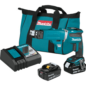 Makita Xsf03tx2 Cordless 4 000 Rpm Drywall Screwdriver Kit With Autofeed Magazi