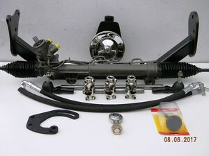1955 1956 1957 Chevy Power Steering Rack And Pinion Conversion Quick Ratio Arms