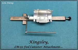Kingsley Machine Lm 55 Foil Canister Attachment Hot Foil Stamping Machine
