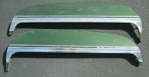 1971 1976 Chevrolet Fender Skirts Pair All Original With Wide Lower Moldings