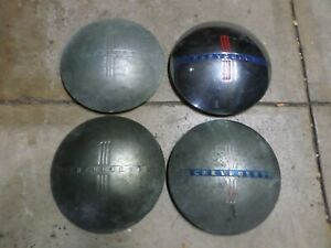 4 Vintage Chevrolet Dog Dish Moon Hubcap Item 1940 S Rat Rod