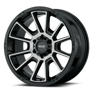 18 Inch Leveled F150 6 Lug 6x135 Black N Machined Wheels 18x8 5 18mm 4 Rims