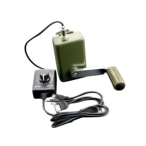 Portable Hand Crank Power Generator W Voltage Regulator