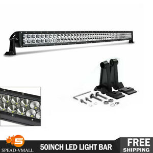 Roof 50inch 700w Led Light Bar Flood Spot Offroad Truck Driving 4wd Suv 50