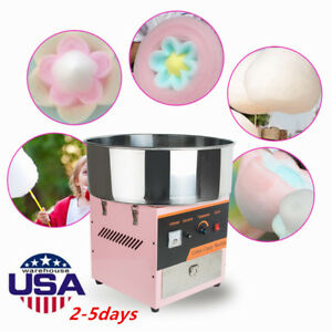 Pink Electric Cotton Candy Machine Floss Maker Commercial Carnival Party Machine