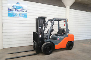2014 Toyota 8fgu32 6 500 Pneumatic Tire Forklift Lp Gas Quad Mast 4 Way