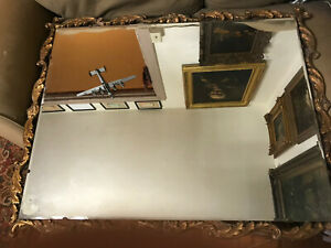 Large Antique Gold Gilt Framed Mirror 40 5 Wide X 32 5 Tall X 1 5 Deep