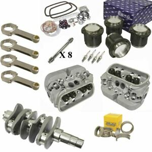 2276cc Air cooled Vw Engine Rebuild Kit 82mm Crank Gtv 2 Heads And Pistons