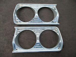 64 Plymouth Fury Belvedere Savoy Headlight Trim Bezels Surrounds Oem Left Right
