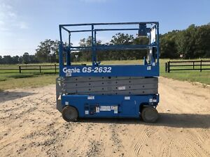 2008 Genie Gs 2632 Gs2632 Scissor Man Lift Skyjack Jlg Vertical Lift