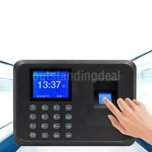 F01 Biometric Fingerprint Time Clock Employee 2 4 Screen Software free