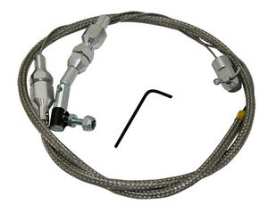 36 Stainless Braided Throttle Cable Holley Edelbrock Cut To Fit Hot Rod