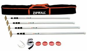 Zipwall 12 4 pack Spring loaded Poles For Dust Barriers Slp4
