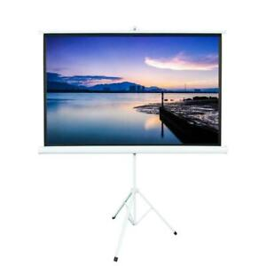 84 In 16 9 Rollable Hd Projector Screen Projection Pull Up With Tripod Stand