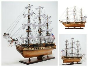38 Inch Uss Constitution Model Ship Old Ironsides Replica Wooden Collectable