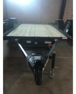 2017 Golden Ut 12 Sat Utility Trailer With Surge Perfect For Scissor Lifts