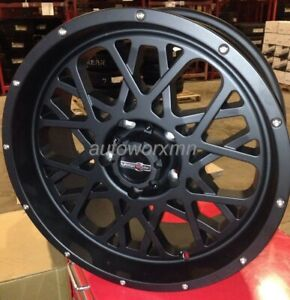18 Inch 6 Lug 6x139 7 6x5 5 Black Rims 12mm Set Of 4 Wheels Fits Sierra 1500