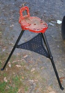 Ridgid 40 a Vise Tripod Tristand Stand Use With Pipe Threading Threader 300 700