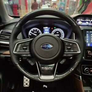 Carbon Fiber pu Leather Steering Wheel Stitch On Wrap Cover For Subaru Forester