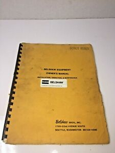 Belshaw Equipment Donut Robot Machine Variety Cutter Owner s Manual Dr42