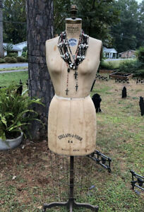 Bauman Form Co Mannequin Dress Form Woman Model 1971 14 Vintage Antique W Cage
