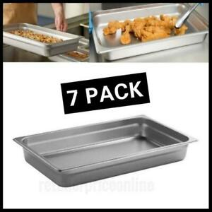 7 Pack Stainless Steel Steam Table Hotel Pan 2 1 2 Full Size