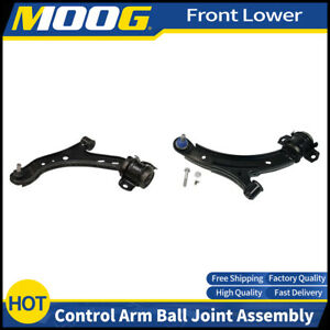 Moog 2pcs Front Lower Control Arm Ball Joint Assembly For 2010 Ford Mustang