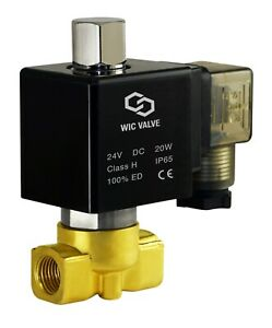 1 4 Inch Normally Open Brass Electric Fast Response Solenoid Valve 24v Dc