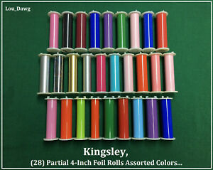 Kingsley Machine 28 partial 4 inch Foil Rolls Hot Foil Stamping Machine