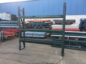 3 Sections Pallet Rack 20 d X 8 t X 24 l Slotted Style 4 Uprights 12 Beams