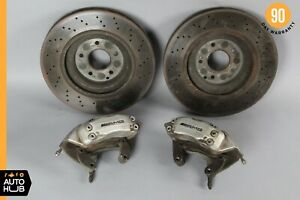 Mercedes W203 C32 C55 Clk55 Amg Front Brake Caliper Calipers Set Brembo W Rotors
