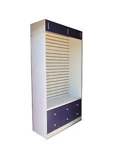 Retail Store Display Slatwall Rolling Units With Drawers Quantity Discount