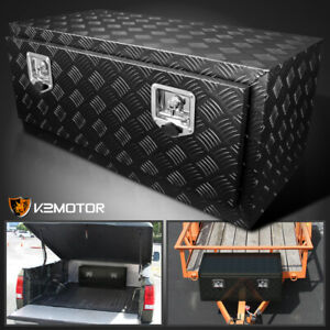 36 Heavy Duty Black Aluminum Tool Box Truck Storage Underbody Trunk Trailer