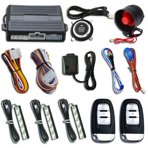 Universal Smart Keyless Entry Pke Car Alarm System Engine Start Stop Push Button