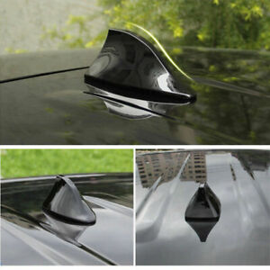 Black Universal Car Roof Radio Am Fm Signal Shark Fin Style Aerial Antenna Cover