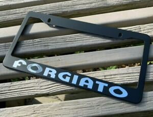 Forgiato License Plate Frame Blk Fits Mopar Dodge Chevy Mustang Qauttro Corvette