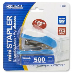Mini Cushion Grip Standard 26 6 Stapler With 500 Ct Staples Hand Held Use