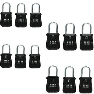 12pcs 4 Dial Metal Key Lock Box Safe Vault Door Hanger For Realtor Real Estate