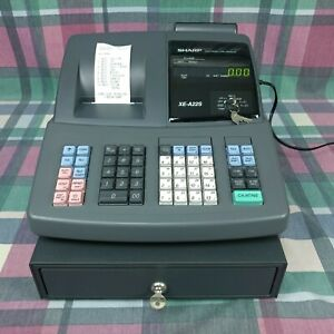 Sharp Electronic Cash Register Model Xe a22s With Keys clean Working Great